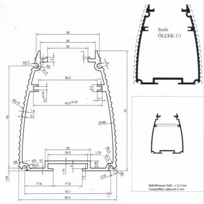 WW12 WALLWASHER 12W 35CM